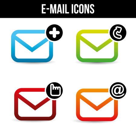 email icons design, vector illustration eps10 graphic Vector