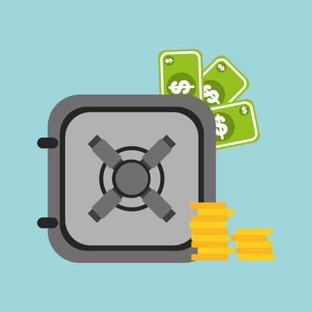 box weight: money icon design, vector illustration eps10 graphic Illustration