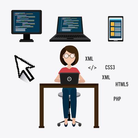 css3: Software digital design, vector illustration eps 10 Illustration