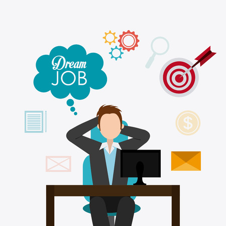 executive search: Job digital design, vector illustration eps 10
