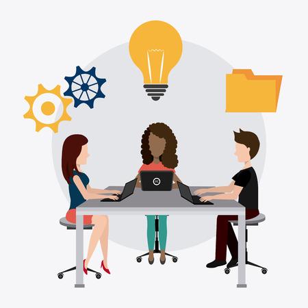 Coworking digital design, vector illustration eps 10