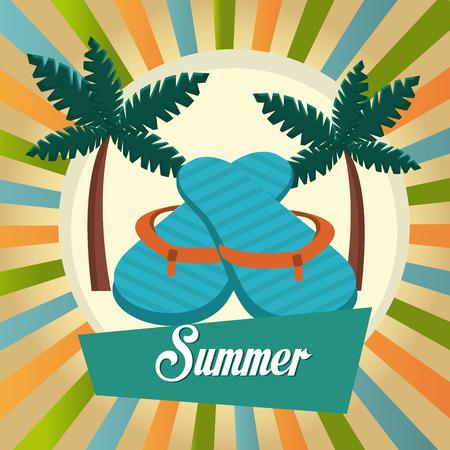 sandal tree: Summer digital design, vector illustration eps 10