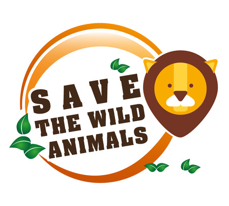 wildlife conservation: save the animals design, vector illustration eps10 graphic