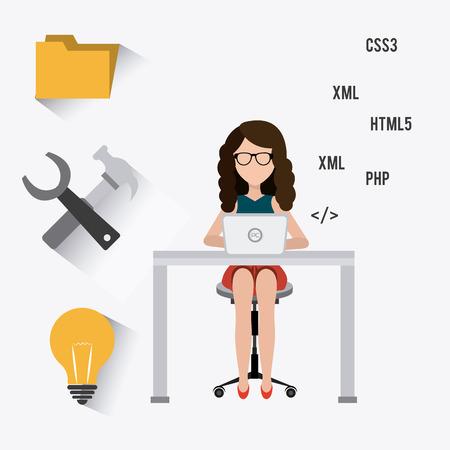 html5: Software digital design, vector illustration eps 10 Illustration