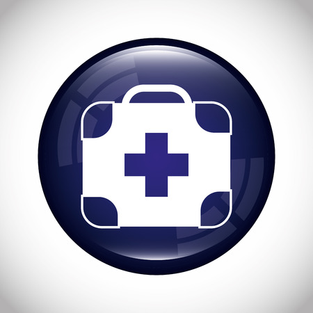 round button: health care design, vector illustration eps10 graphic Illustration