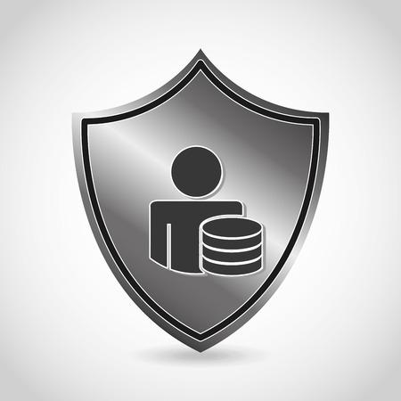 chrome man: security icon design, vector illustration eps10 graphic
