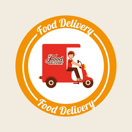 conception de la livraison de nourriture, illustration graphique eps10