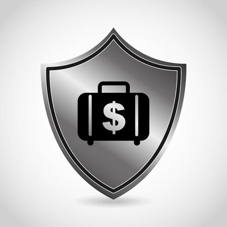 iron defense: money icon design, vector illustration eps10 graphic Illustration