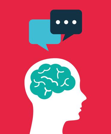 person thinking: think concept design, vector illustration graphic Illustration