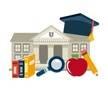 place to learn: education concept design, vector illustration graphic