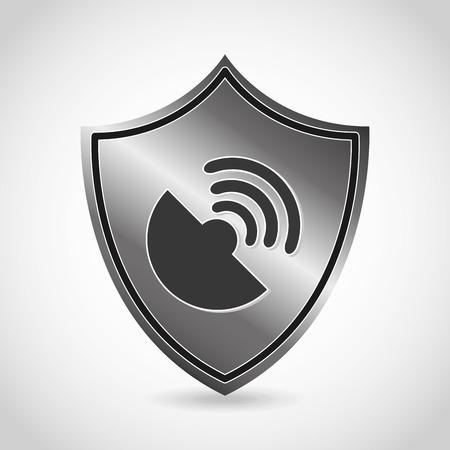 antena: security icon design, vector illustration graphic