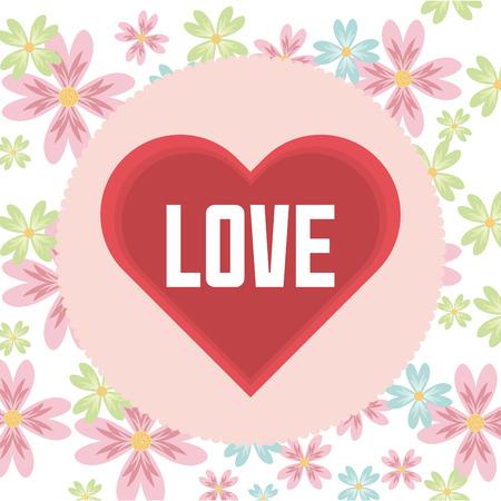 love card: amar dise�o de la tarjeta, ilustraci�n vectorial gr�fico