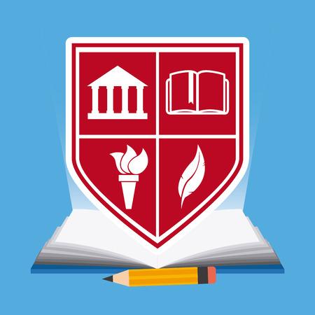 shiled: education concept design, vector illustration graphic