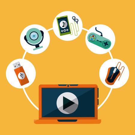 gadgets: tech gadgets design, vector illustration graphic Illustration