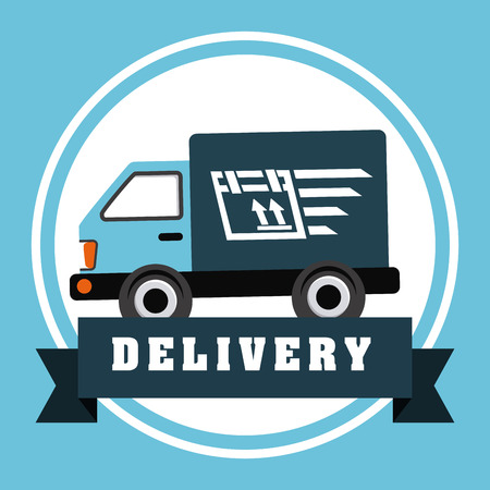 delivery service design, vector illustration graphic