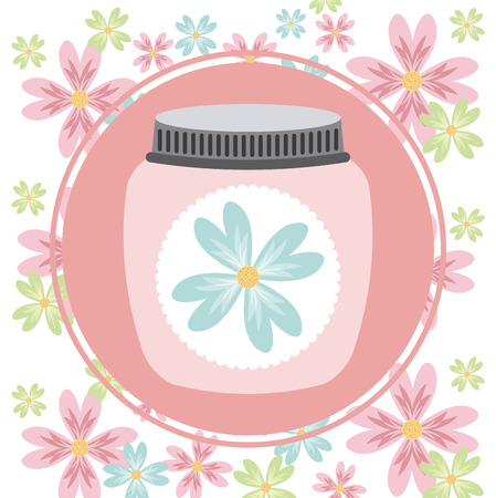 decoration design: decoraci�n floral dise�o, ilustraci�n vectorial gr�fico Vectores