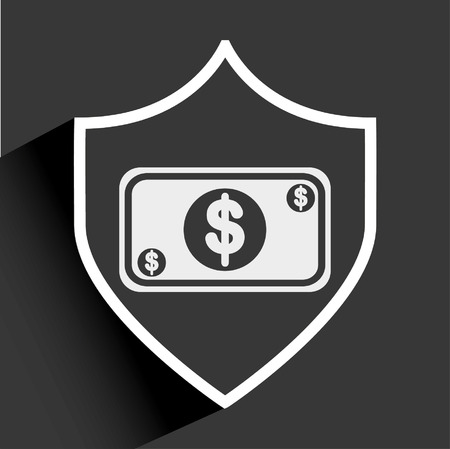iron defense: money icon design, vector illustration  graphic