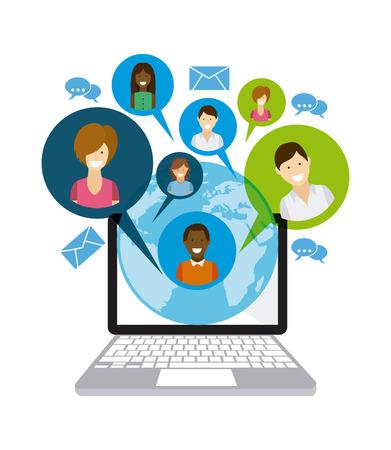 trabajo social: diseño de medios de comunicación social, ejemplo gráfico del vector eps10