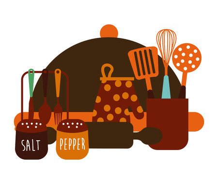 pepper grinder: kitchen concept design, vector illustration  graphic Illustration