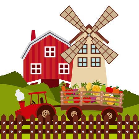 farm fresh design, vector illustration eps10 graphic Ilustrace