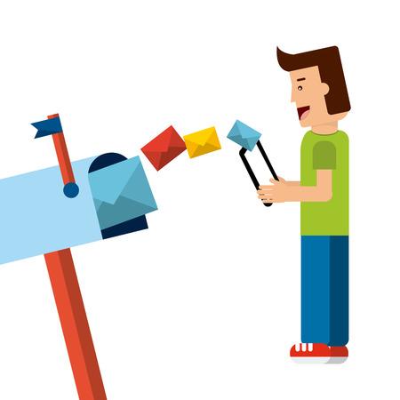 e mailing: mail concept design, vector illustration eps10 graphic Illustration