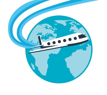 airplane travel: travel concept design, vector illustration  graphic
