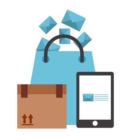 e mailing: mail concept design, vector illustration graphic Illustration