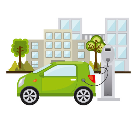 trees services: eco energy design, vector illustration graphic