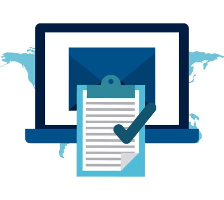 background check: social media design, vector illustration graphic