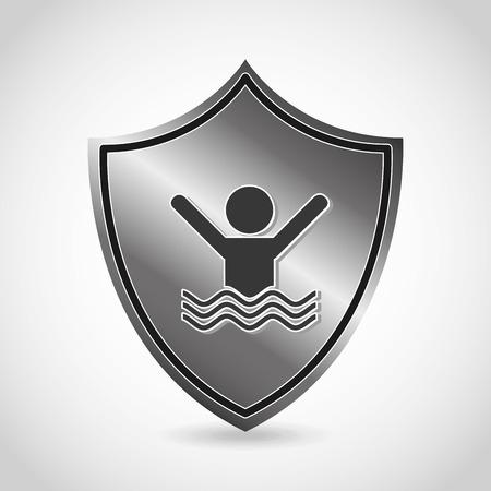 natation: seguridad icono del diseño, ilustración vectorial gráfico eps10