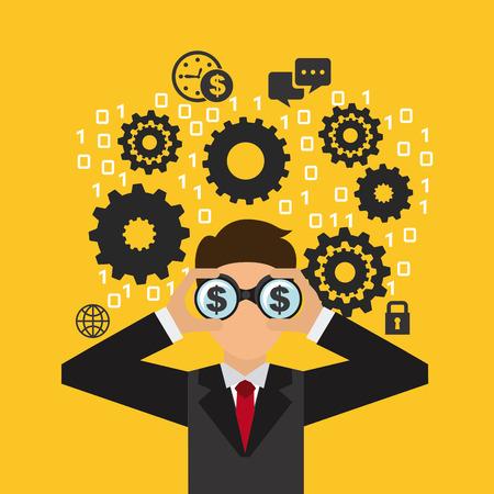 ocupation: business people design, vector illustration  graphic