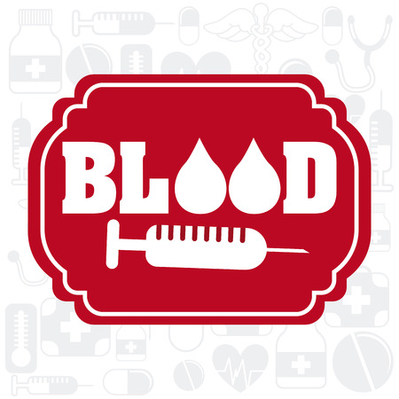 rh: donate blood design, vector illustration  Illustration