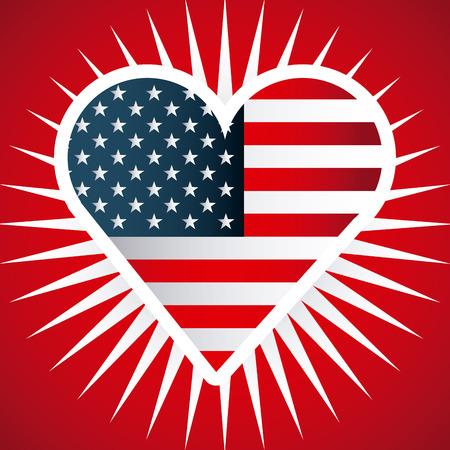 Amerikaans embleem ontwerp, vectorillustratie Stock Illustratie