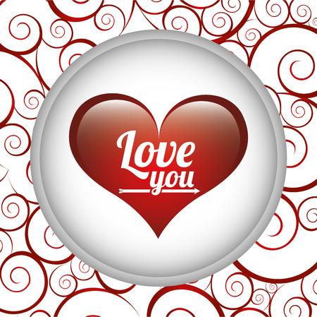 love card: amar dise�o de la tarjeta, ilustraci�n vectorial