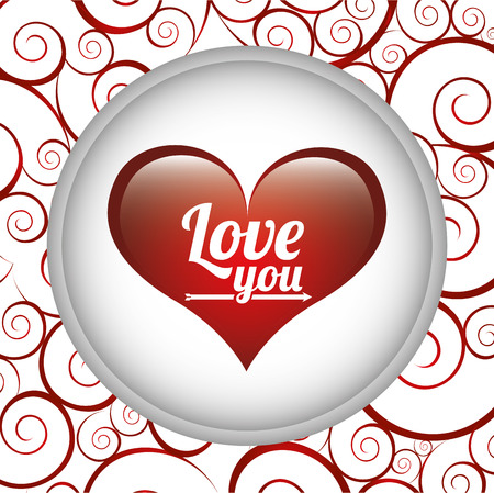 inlove: love card design, vector illustration