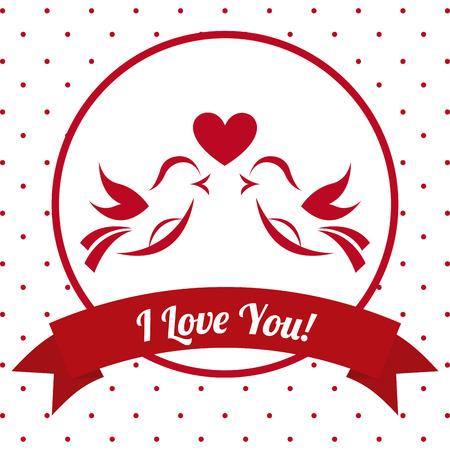 love card: dise�o de tarjeta de amor, ilustraci�n vectorial gr�fico eps10 Vectores