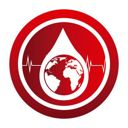 rh: donate blood design, vector illustration eps10 graphic