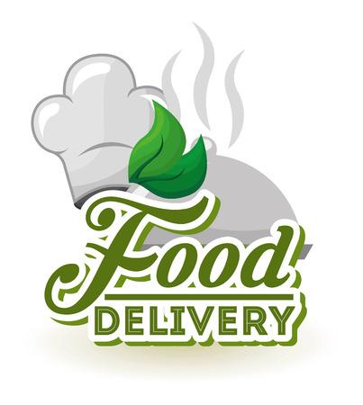 Voedsel levering ontwerp, vector illustratie eps10 grafisch