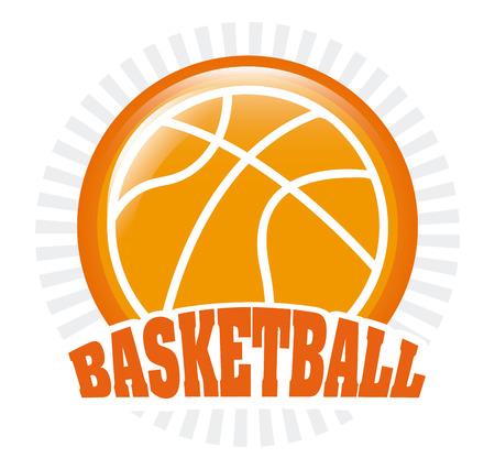 balon de basketball: diseño de deporte de baloncesto, ilustración vectorial