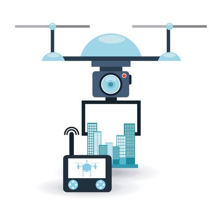antena: drone technology design, vector illustration