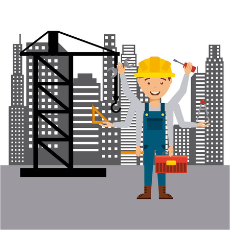 construction concept: construction concept design, vector illustration