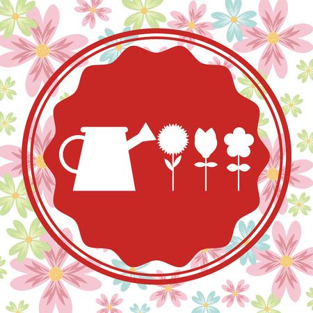 tuinontwerp: flower garden design, vector illustration eps10 graphic