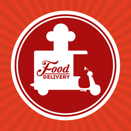 circl: food delivery design, vector illustration eps10 graphic Illustration