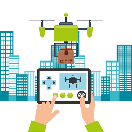antena: drone technology design, vector illustration eps10 graphic Illustration