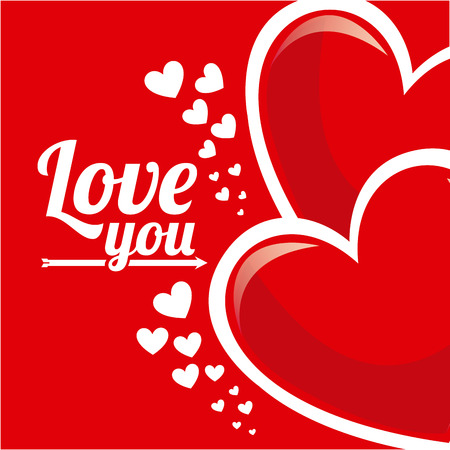 inlove: love card design, vector illustration eps10 graphic Illustration