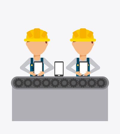 manufacturing plant: manufacturing phones design, vector illustration eps10 graphic Illustration