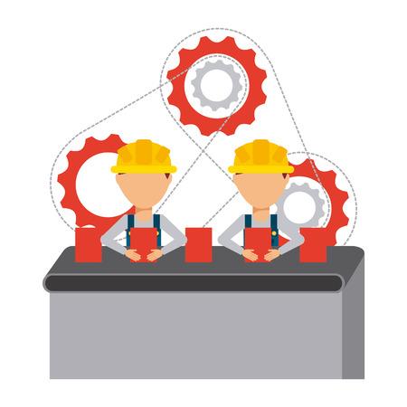 conveyor system: production line design, vector illustration eps10 graphic