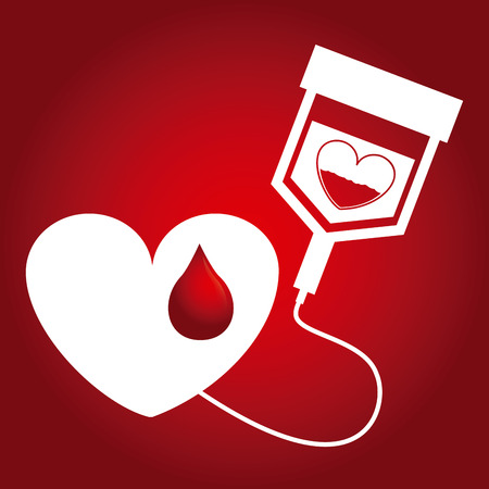 rh: donate blood design, vector illustration