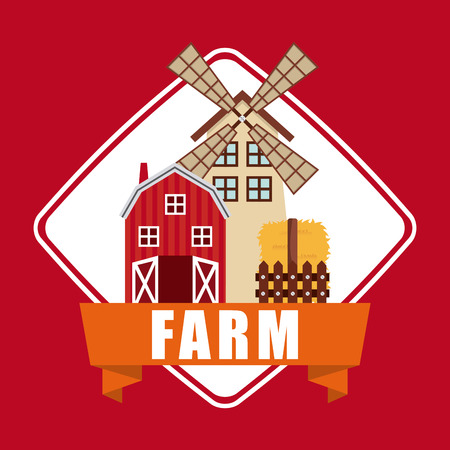fense: farm fresh design, vector illustration eps10 graphic Illustration
