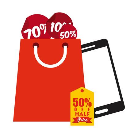 commerce electronique: conception de commerce �lectronique, illustration graphique eps10